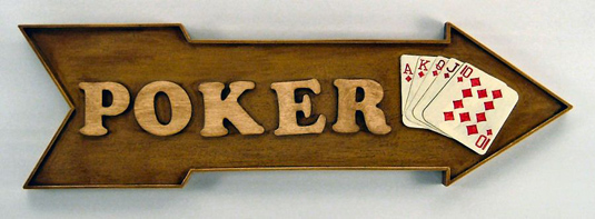 Wood Poker Sign