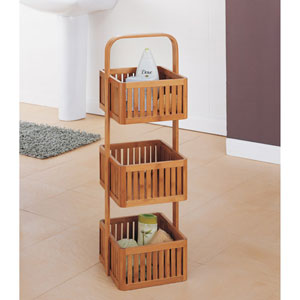 The Organize It All Bamboo Stationary Caddy